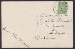 """émission 1915 - N°137 Sur CP Fantaisie Obl Relais """"Racour / Raatshoven"""" > Pellaines - Poststempels/ Marcofilie"""