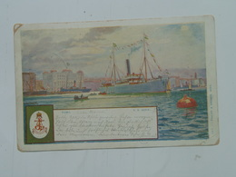Brod 246 Ship Vapore Dampfer Lloyd S.S. SS Piroschafo 1905 Adria Fiume Ed Phiipp I Kramer - Paquebots
