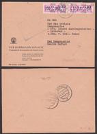 DDR ZKD B14(9004) Brief, Gotha Thüringen Hermann Haack Kartographische Anstalt 10.10.57 - DDR