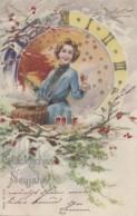 Fêtes - Noël - Glückliches Neujahr - Punch - Horloge Temps - Other