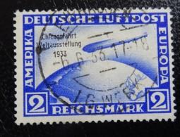 &39A& GERMANY  III REICH , MICHEL 497, YVERT PA 42B VF USED.  ZEPPELIN. CHICAGOFAHRT. - Luftpost