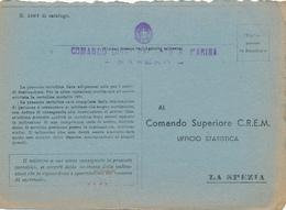 1942 COMANDO DISTACCAMENTO R MARINA SASENO ISOLA ALBANIA - 1900-44 Vittorio Emanuele III
