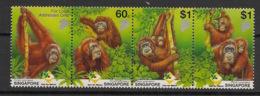 Singapore - 2001 - N°Yv. 1013 à 1016 - Faune / Orang Outan - Neuf Luxe ** / MNH / Postfrisch - Singapore (1959-...)