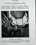 Train Autorail Bugatti  - Poste De Commande - Coupure De Presse (encadré Photo) De 1935 - Railway