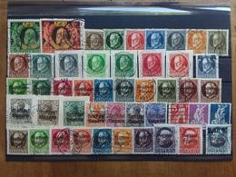 ANTICHI STATI TEDESCHI 1911/20 - BAVIERA - 47 Francobolli Differenti Timbrati (3 Valori Dente Corto) + Spese Postali - Beieren