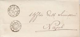 Canneto Di Bari. 1882. Annullo Grande Cerchio CANNETO DI BARI +  Timbro UFFICIO REGISTRO, Su Franchigia Con Testo - Storia Postale