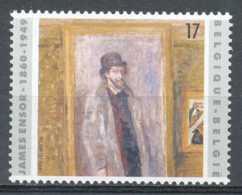 D - [154059]TB//**/Mnh-[2822] Belgique 1999, James Ensor, 'ma Chambre Préférée', Tableau, Painting, émission Commune Ave - Arts