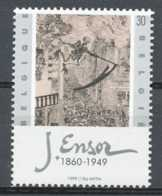 D - [154074]TB//**/Mnh-N° 2830, James Ensor, Tableaux, Painting, 'la Mort Poursuivant La Horde Humaine', SNC - Belgique