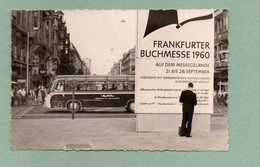 FRANKFURT / MAIN - BUCHMESSE 1960 MIT REISEBUS BAD HOMBURG V.d.H. UND SONDERSTEMPEL - Frankfurt A. Main