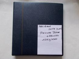 BELGIQUE - ALBUM SAFE DUAL Reliure Bleue   Contenant Feuilles De L'année 1953 A 1961 - Bindwerk Met Pagina's
