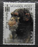 MONGOLIE  N° 2474  * * Millennium Charles Darwin  Singes Chimpanzes - Chimpancés