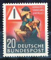 D - [SYL-0627]TB//-Allemagne Bundespost, 1953, Accident De La Circulation, */mh, Cote 10 Eur - [7] Federal Republic