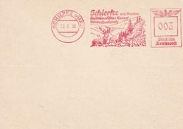 ALLEMAGNE 1938 CARTE EMA DE SCHIERKE - Marcophilie - EMA (Empreintes Machines)