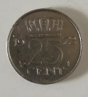 Moneta Da 25 Cent Dei Paesi Bassi Del 1972 - [ 6] Monnaies Commerciales