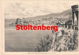 520 Scilla Kalabrien Süditalien Calabria Artikel Mit 1 Bild 1882 !! - Italy