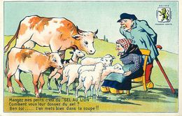 Cpa Mangez Mes Petits, C'est Du Sel Au Lion -  Salines De Franche Comté - - Publicité