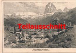 521 Heinrich Noe Gröden St. Ulrich Südtirol Artikel Mit 3 Bildern 1882 !! - Italy
