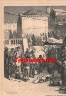 522 Venedig Venezia Gemüsemarkt Rialtobrücke Artikel Mit 1 Bild 1879 !! - Italy
