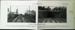 Gare De Versailles Chantiers Vers Saint Cyr   - Coupure De Presse (encadré Photo) De 1911 - Chemin De Fer