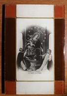 Quadretto Vergine Rosario Pompei Cornice In Vetro Con Dettagli Dorati 15x10 - Other Collections
