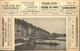 83  TOULON  Carte PUBLICITAS   Nombreuses Publicités  Autour Du Quai Du Port - Toulon