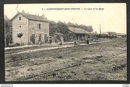 88 - GIRONCOURT SUR VRAINE - La Gare Et Les Quais - 1911 - France