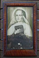 Quadretto S. Giovanna Antida Di Thouret 16.5x11 Cornice In Radica Di Noce - Other Collections