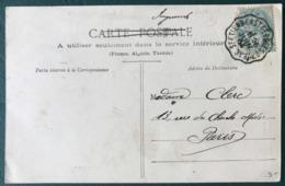 France N°111 Sur CPA - Tarif Imprimé - TAD Convoyeur ST ETIENNE à ST GEORGES D'AURAC 1904 - (B124) - 1877-1920: Semi Modern Period