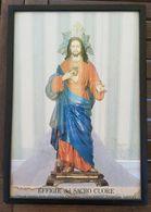 Quadro Effigie Del Sacro Cuore Parrocchia Omonima Napoli 32x22.5 - Andere Verzamelingen