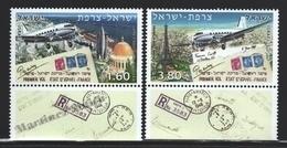 Israel 2008  Yv. 1936-37, Aviation, 50th Ann. First State Flight Israel France – Tab - MNH - Neufs (avec Tabs)