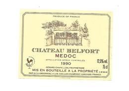 Etiquette De Vin - Médoc - Chateau Belfort 1990 - Rouges