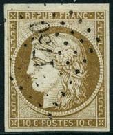Obl. N°1 10c Bistre - TB - 1849-1850 Ceres