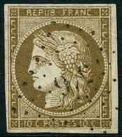 Obl. N°1b 10c Bistre Verdâtre, Signé Brun Et Scheller - TB - 1849-1850 Ceres