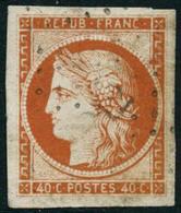 Obl. N°5 40c Orange, Pièce De Luxe - TB - 1849-1850 Ceres
