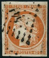 Obl. N°5 40c Orange, Signé JF Brun - TB - 1849-1850 Ceres