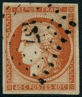 Obl. N°5a 40c Orange Vif, Signé Scheller - TB - 1849-1850 Ceres