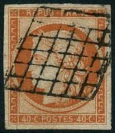 Obl. N°5a 40c Orange Vif, Signé Calves - TB - 1849-1850 Ceres
