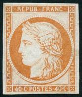 ** N°5g 40c Orange, Réimp - B - 1849-1850 Ceres