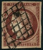 Obl. N°6 1F Carmin Foncé - TB - 1849-1850 Ceres