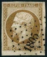 Obl. N°9 10c Bistre - TB - 1852 Louis-Napoléon
