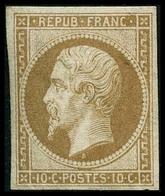 ** N°9c 10c Bistre Clair Réimp - TB - 1852 Louis-Napoléon
