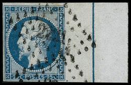 Obl. N°10b 25c Bleu, BDF Avec Filet D'encadrement - TB - 1852 Louis-Napoléon