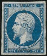 ** N°10c 25c Bleu, Réimp - TB - 1852 Louis-Napoléon