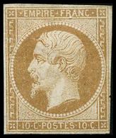 ** N°13A 10c Bistre, Type I  - TB - 1853-1860 Napoléon III.