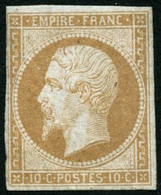 ** N°13A 10c Bistre, Type I - B - 1853-1860 Napoléon III.