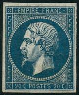 ** N°14A 20c Bleu, Type I - TB - 1853-1860 Napoléon III.