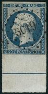 Obl. N°14Ai 20c Bleu, Type I BDF Avec Filet D'encadrement  - TB - 1853-1860 Napoléon III.