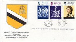 Brunei. Enveloppe Fdc. Silver Jubilee Of Queen Elisabeth II. - Brunei (1984-...)