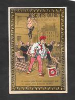 Chromo Doréchromo Doré Lith BOGNARD Biscuits OLIBET  ''la Maison Peut Bruler..''   7,5x11 OTTIMO STATO - Confetteria & Biscotti