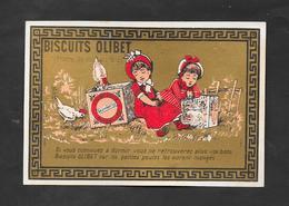 Chromo Doréchromo Doré Lith BOGNARD Biscuits OLIBET   ''si Vous Continuez à Dormir..''   7,5x11 OTTIMO STATO - Confetteria & Biscotti